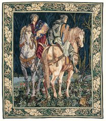 1059.10, .20 & .30 Les chevaliers (Motif Gauche) (William Morris) (90x75)