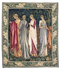 1060.10, .20 & .30 Les dames de Camelot (Motif Droit) (William Morris) (90x75)