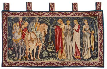 7880.50.28 Knights and ladies of Camelot - Bordee 8cm & a Bretelles (William Morris) (55x100)